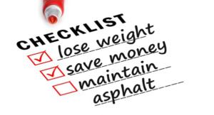 asphalt checklist